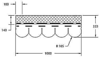 Форма гонта битумной черепицы Деке Кольчуга